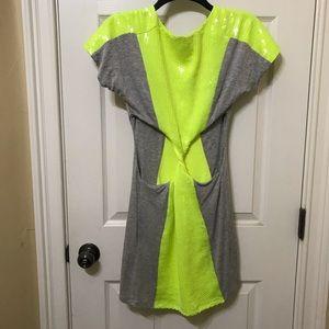 bebe Dresses - Bebe Neon Cutout Jersey Sequin Dress